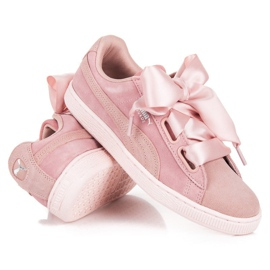 Puma Suede Heart Pebble WN`S pink 2