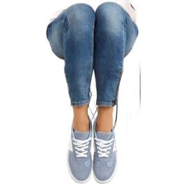Blå denimblå kvinders sportssko 4