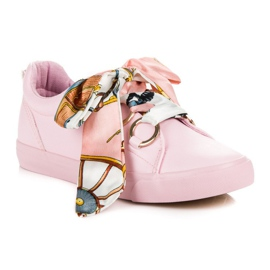 Pink Bundet Sneakers VICES 4