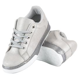 Sølvbundne sneakers grå 2
