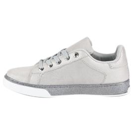 Sølvbundne sneakers grå 1