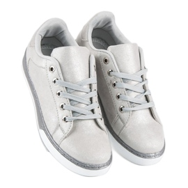 Sølvbundne sneakers grå 3