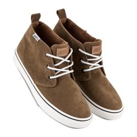 Andy Z Suede sneakers over ankelen brun 3