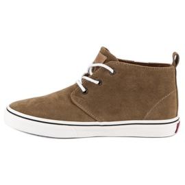 Andy Z Suede sneakers over ankelen brun 1