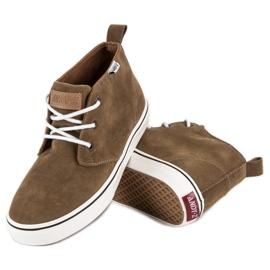 Andy Z Suede sneakers over ankelen brun 2