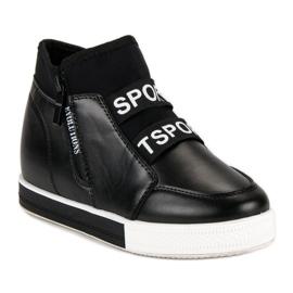 Sorte sneakers med lynlås 3