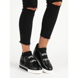Sorte sneakers med lynlås 1