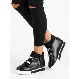 Sorte sneakers med lynlås 2