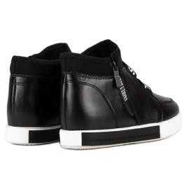 Sorte sneakers med lynlås 5