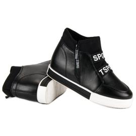Sorte sneakers med lynlås 6