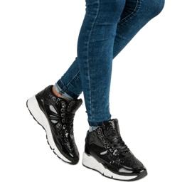 Sorte sneakers med glitter 6