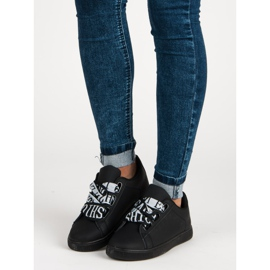 Black Fashion sneakers sort 6