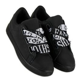 Black Fashion sneakers sort 7