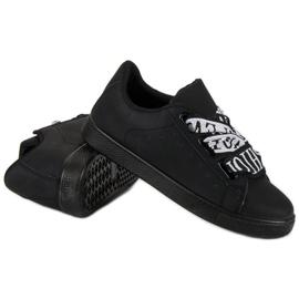 Black Fashion sneakers sort 4