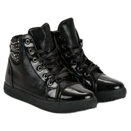 Bundne sneakers sort 4