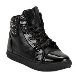 Bundne sneakers sort 1