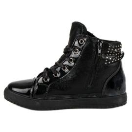 Bundne sneakers sort 2