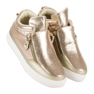 Lgm Guld sneakers med lynlås 2