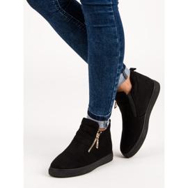 Suede Slip-on Sneakers sort 1