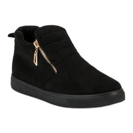 Suede Slip-on Sneakers sort 2