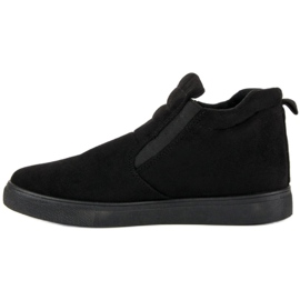 Suede Slip-on Sneakers sort 3
