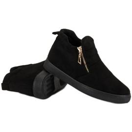 Suede Slip-on Sneakers sort 4