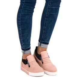 Lyserøde sneakers med lynlås pink 6