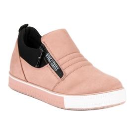 Lyserøde sneakers med lynlås pink 2