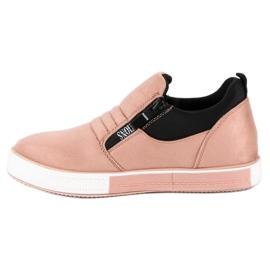 Lyserøde sneakers med lynlås pink 3
