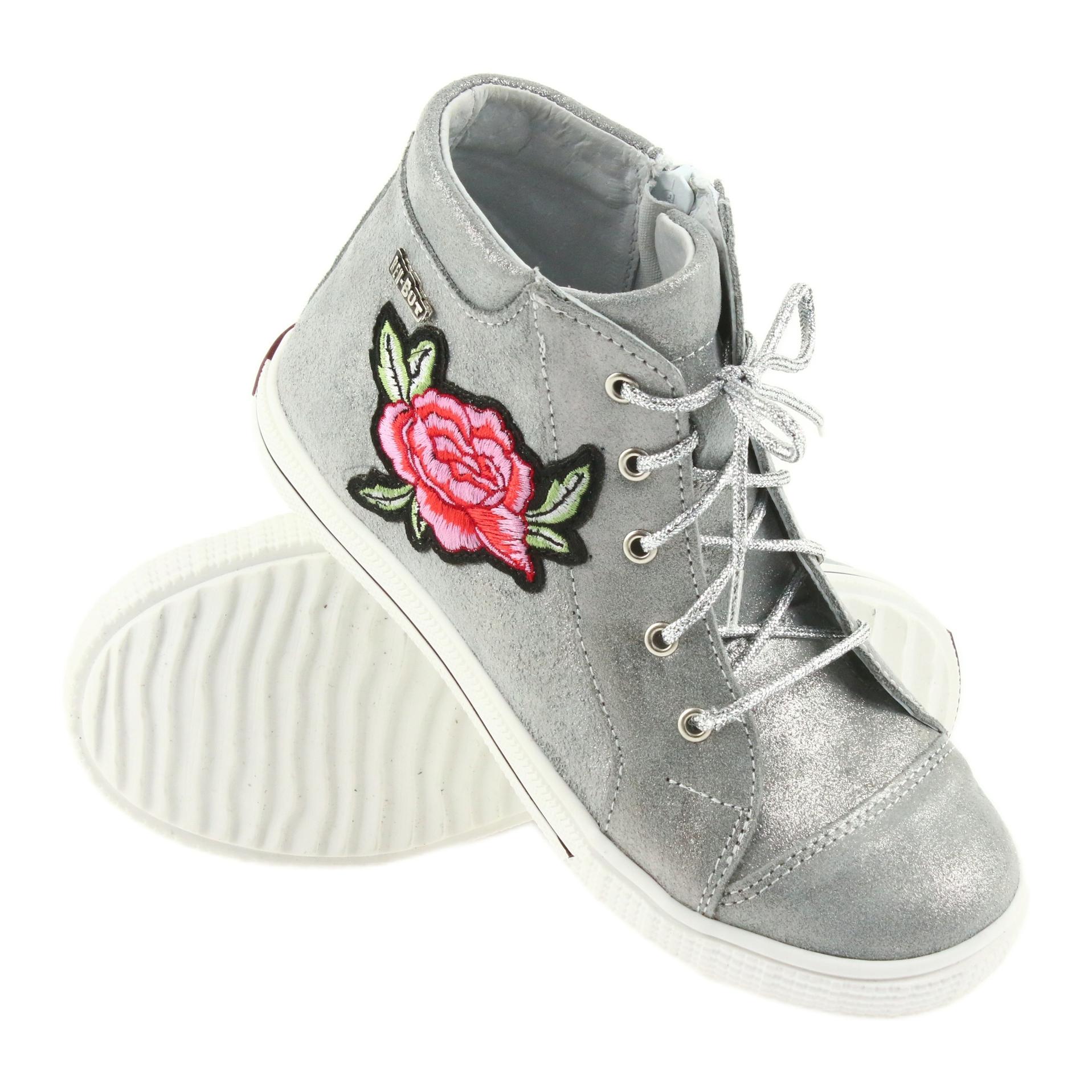 167ebd52c88 Ren But grå Sko sko piger sølv Ren Men 4279 - ButyModne.pl