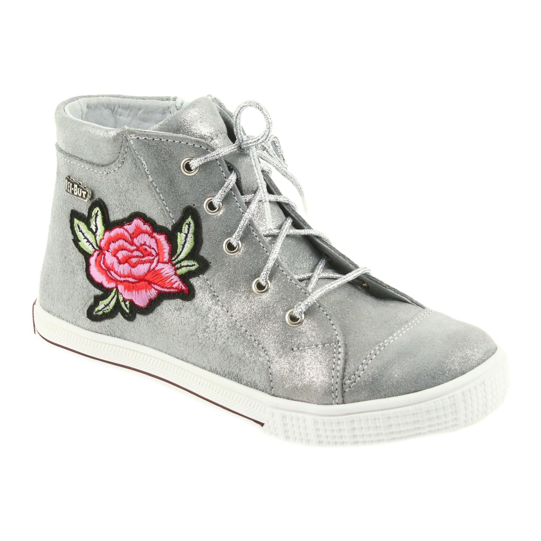d605c15bd Ren But grå Sko sko piger sølv Ren Men 4279