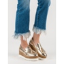 Corina Golden Loafers On Wedge gul 1