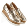 Corina Golden Loafers On Wedge gul 3