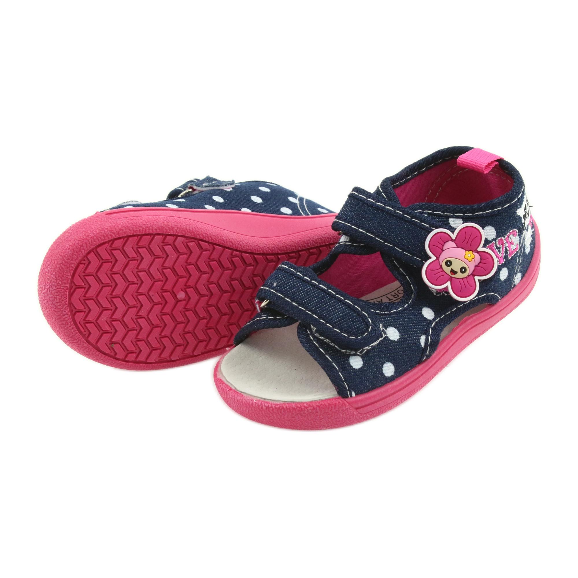 5f19103e American Club Børns sko slippers sandaler Amerikansk læderindsats billede 4