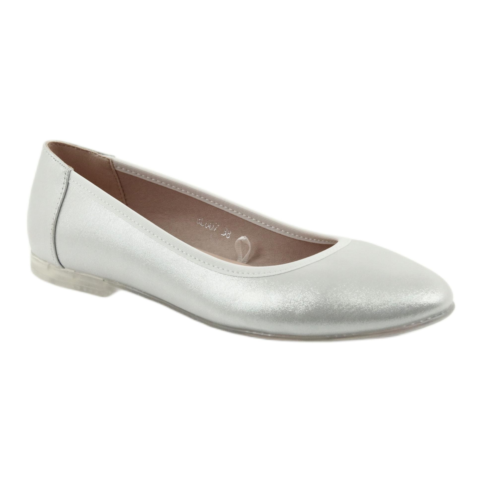 sølv ballerina sko