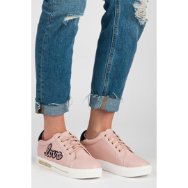 Vices Lace-up Love Sneakers pink 1