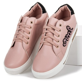 Vices Lace-up Love Sneakers pink 3