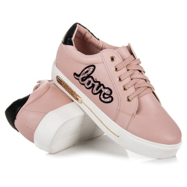 Vices Lace-up Love Sneakers pink 4