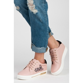 Vices Lace-up Love Sneakers pink 2