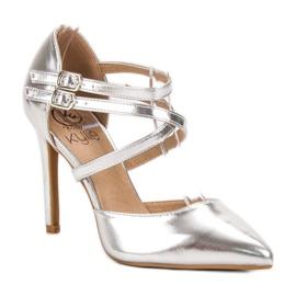 Kylie Skinnende Fashion Studs grå 3