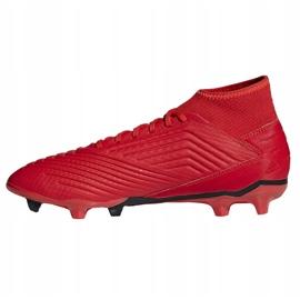 Fodboldstøvler adidas Predator 19.3 Fg M BB9334 rød rød 1