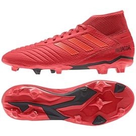 Fodboldstøvler adidas Predator 19.3 Fg M BB9334 rød rød 3