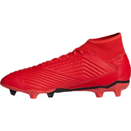 Fodboldstøvler adidas Predator 19.3 Fg M BB9334 rød rød 6