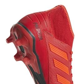 Fodboldstøvler adidas Predator 19.3 Fg M BB9334 rød rød 8