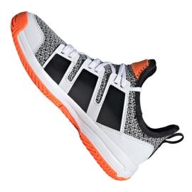 Adidas Stabil Jr F33830 håndboldsko hvid, sort grå 1