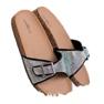 Marquiz sort Blanke flip flops med en spænde billede 2