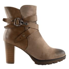 Ankelstøvler brun 8287 Khaki 1