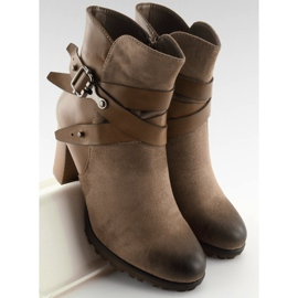 Ankelstøvler brun 8287 Khaki 3