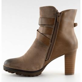 Ankelstøvler brun 8287 Khaki 4