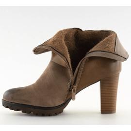 Ankelstøvler brun 8287 Khaki 5